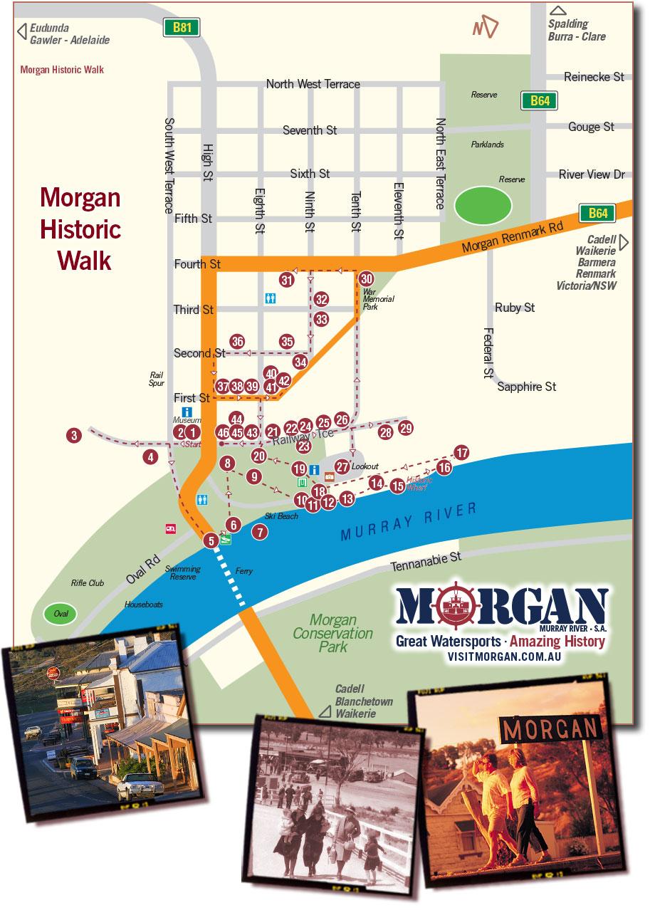 Visit Morgan Historic Walk map