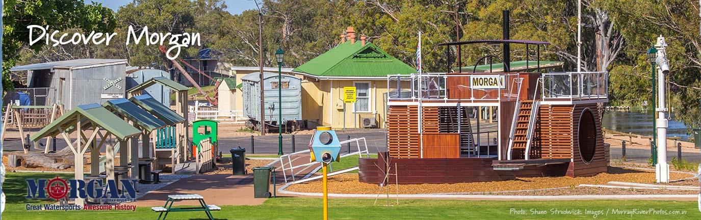 Visit Morgan playground banner - Shane Strudwick Images